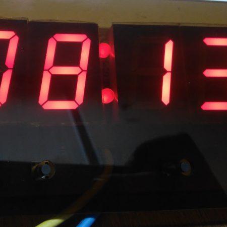 نمایشگر اتوبوسی دما و ساعت