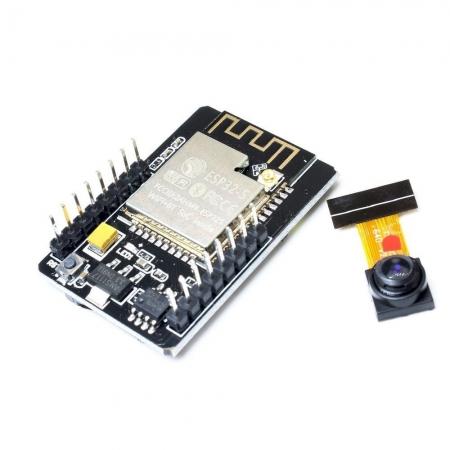 برد ماژول ESP32 Cam با دوربین برد ESP32 - CAM به دلیل برخورداری از پردازنده ESP32 و همراه داشتن دوربین مخصوص در پروژه های اینترنت اشیا IOT طرفداران خاص خود را دارد. از جمله مصارف آن میتوان به طراحی اسمارت هوم ها ( خانه های هوشمند، کنترل از طریق وایرلس در صنعت، مانیتورینگ وایرلس، شناسایی وایرلس QR و سیگنال های موقعیت یابی بر اساس وایرلس استفاده کرد. بر روی ماژول ESP32 پورت جهت قرار دادن سیم کارت وجود دارد که حداکثر تا شبکه 4G را ساپورت خواهد کرد. این ماژول از CPU 32 bit کم مصرف بهره میبرد و حداکثر سرعت کلاک تا 160 مگاهرتز میباشد. برای خرید esp32 کافیست از همین طریق اقدام کنید. توجه داشته باشید esp32 قیمت در این صفحه معتبر است. ویژگیهای ماژول ESP32 Cam پشتیبانی از دوربین های OV2640، OV7670 پشتیبانی از کارت TF پشتیبانی از چندین مود و حالت Sleep پشتیبانی از مودهای STA/AP/STA+AP پشتیبانی از تکنولوژی Smart Config/AirKiss قدرت انتقال : 802.11b: 17±2 dBm (@11Mbps); 802.11g: 14±2 dBm (@54Mbps); 802.11n: 13±2 dBm (@MCS7) معرفی ماژول ESP32-Cam برد ESP32 نسل پیشرفته ESP8266 است. یکی از تفاوتهای آن بلوتوث داخلیاش میباشد. همچنین دارای هسته وایفای ۲,۴ گیگا هرتزی و بلوتوث داخلی تولید شده با تکنولوژی ۴۰ نانومتری شرکت TSMC میباشد. این ماژول دارای بهترین پرفورمنس در مصرف انرژی میباشد یعنی با کمترین مصرف انرژی بهترین نتیجه را برای ما به همراه دارد. اگر بخواهیم دقیقتر به این برد نگاه کنیم باید بگوییم که این یک chip است که پلتفرم NodeMCU در اون پیاده سازی شده که به این نوع چیپ ها System on a chip microcontrollers هم گفته میشود.